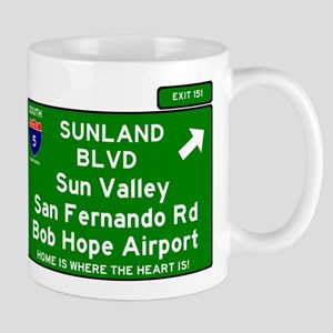 I5 INTERSTATE EXIT SIGN - CALIFORNIA - SUNLAN Mugs